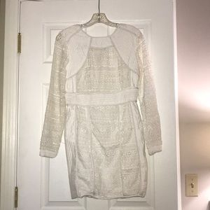 BOOHOO Structured lace mini dress- Never worn